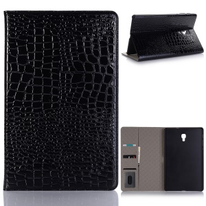 Crocodile Texture PU Leather Wallet Smart Case for Samsung Galaxy Tab A 10.5 (2018) T590 T595 - Black