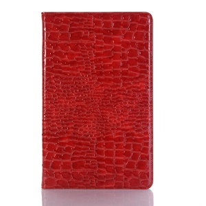 Crocodile Texture PU Leather Wake/Sleep Tablet Shell for Samsung Galaxy Tab A 10.5 (2018) T590 T595 - Red