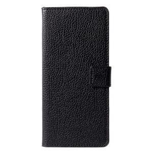 Litchi Grain PU Leather Stand Wallet Cell Phone Cover for Samsung Galaxy J6+ / J6 Prime