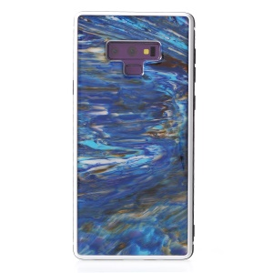 Natural Sea Shell Amber Series Epoxy TPU PC Hybrid Cell Phone Case for Samsung Galaxy Note9 N960 - Blue