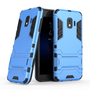 Cool Guard Hybrid Case Kickstand Plastic + TPU Protection Cover for Samsung Galaxy J2 Core - Baby Blue