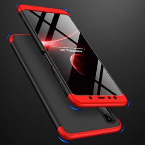 GKK Detachable 3-Piece Matte Hard Back Case for Samsung Galaxy A7 (2018) - Red / Black