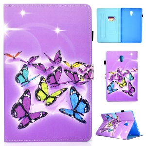 Pattern Printing PU Leather Tablet Case with 3 Card Slots for Samsung Galaxy Tab A 10.5 (2018) T590 T595 - Colorful Butterflies
