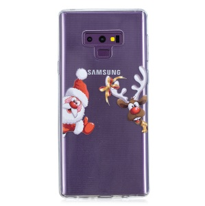 Pattern Printing Christmas Series TPU Phone Case Accessory for Samsung Galaxy Note9 N960 - Reindeer and Santa Claus