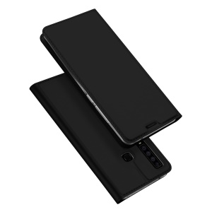 DUX DUCIS Skin Pro Series Stand Card Holder Leather Casing for Samsung Galaxy A9 (2018)/A9 Star Pro/A9s - Black