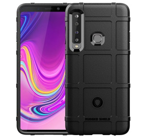 Anti-shock Square Grid Texture Soft TPU Case for Samsung Galaxy A9 (2018) / A9 Star Pro / A9s - Black