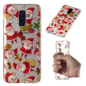 Christmas Pattern Printing TPU Jelly Mobile Case for Samsung Galaxy A6 Plus (2018) / A9 Star Lite - Santa Claus