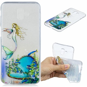 Pattern Printing Embossing TPU Cellphone Casing for Samsung Galaxy J6 Plus - Mermaid