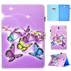Pattern Printing PU Leather Tablet Case for Samsung Galaxy Tab S4 10.5 T830 T835 - Colorful Butterflies