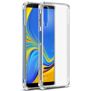 IMAK Silky Anti-drop Soft TPU Back Shell + Screen Protector Film for Samsung Galaxy A7 (2018) A750F - Transparent