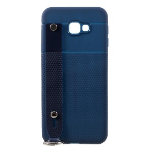 Triangle Pattern TPU Cover for Samsung Galaxy J4 Plus - Blue