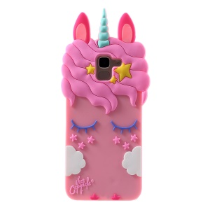 3D Unicorn Pattern Silicone Back Cover for Samsung Galaxy J6 (2018)
