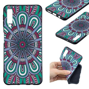For Samsung Galaxy A7 (2018) A750 Embossment Patterned TPU Ultra-thin Cover - Symmetric Pattern