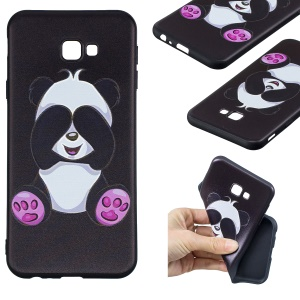 Embossed Pattern TPU Mobile Phone Case for Samsung Galaxy J4+ / J4 Prime / J415 - Adorable Panda