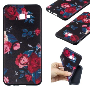 Embossing Pattern TPU Back Case for Samsung Galaxy J4+ / J4 Prime / J415 - Roses