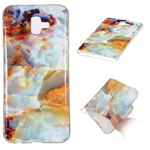 Marble Pattern IMD TPU Case for Samsung Galaxy J6+ - Style A