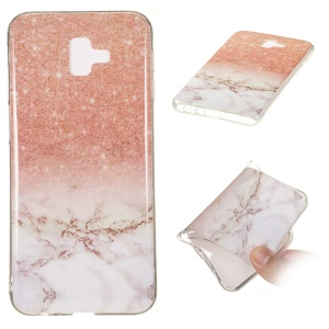 Marble Pattern IMD TPU Shell Cover Case for Samsung Galaxy J6+ - Style M