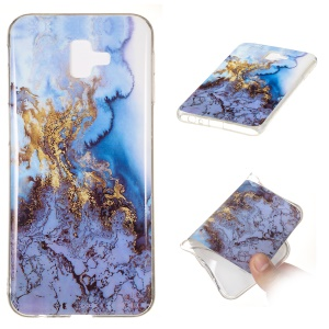 Marble Pattern IMD TPU Case Soft Shell for Samsung Galaxy J6+ - Style Q