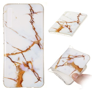 Marble Pattern IMD TPU Case Accessory for Samsung Galaxy A7 (2018) - Style H