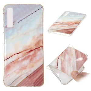 Marble Pattern IMD TPU Cover Shell Case for Samsung Galaxy A7 (2018) - Style I
