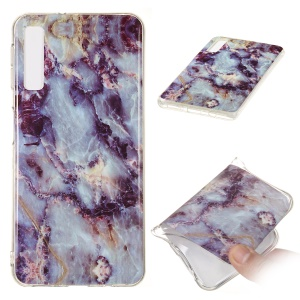 For Samsung Galaxy A7 (2018) A750 Mobile Shell [Marble Pattern] IMD TPU Case - Style L