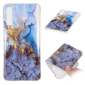 For Samsung Galaxy A7 (2018) A750 Cellphone Casing [Marble Pattern] IMD TPU Case - Style N