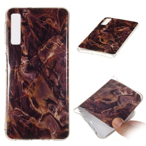 For Samsung Galaxy A7 (2018) A750 Cellphone Casing Cover [Marble Pattern] IMD TPU Case - Style Q