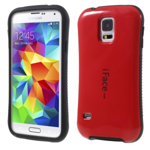 IFACE MALL Glossy PC + TPU Shell for Samsung Galaxy S5 G900 - Red