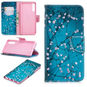 Pattern Printing PU Leather Flip Protective Cell Phone Case for Samsung Galaxy A7 (2018) A750 - Wintersweet