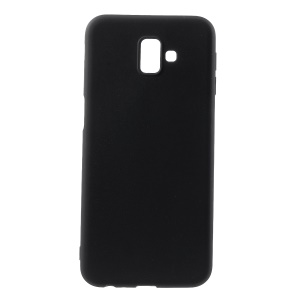 Double-sided Matte TPU Back Case for Samsung Galaxy J6+ - Black
