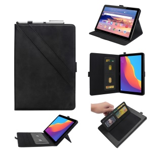 Custodia In Poliuretano Per Tablet Con Supporto In Pelle PU Per Huawei Mediapad T5 10 - Nero
