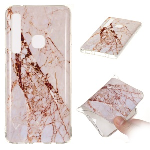 Marble Pattern IMD TPU Soft Back Case for Samsung Galaxy A9 (2018) / A9 Star Pro / A9s - Style A