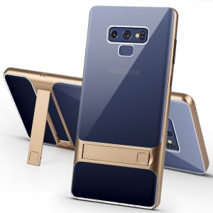 ELEGANCE Coque Hybride TPU + PC Kickstand Pour Samsung Galaxy Note9 N960 - Or