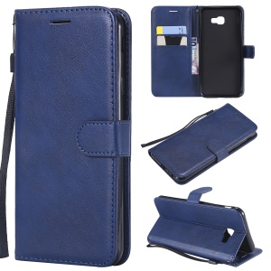 PU Leather Wallet Case with Stand for Samsung Galaxy J4+ J415 / J4 Prime - Blue