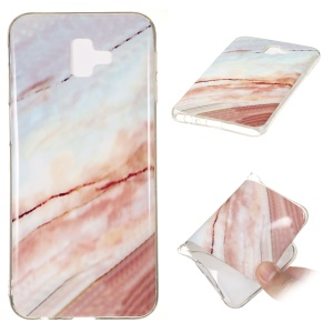 Marble Patterned IMD Soft TPU Mobile Phone Cover for Samsung Galaxy J6 Plus J610F/J6 Prime - Style G