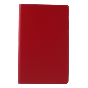 DOORMOON for Samsung Galaxy Tab A 10.5 (2018) T590 T595 Genuine Leather Protective Case with Stand - Red