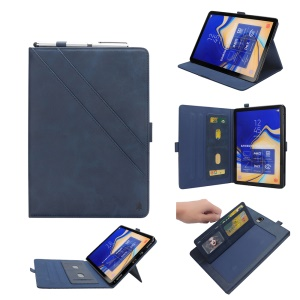 PU Leather Tablet Case for Samsung Galaxy Tab S4 10.5 - Blue