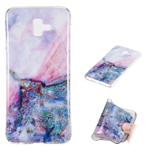Marble Pattern IMD TPU Cover Shell Case for Samsung Galaxy J6+ - Style H