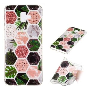 Marble Pattern IMD TPU Case Phone Shell Cover for Samsung Galaxy J6+ - Style J