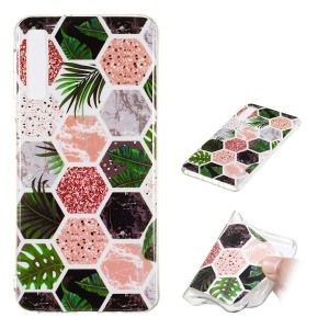 Marble Pattern IMD TPU Case for Samsung Galaxy A7 (2018) - Style A