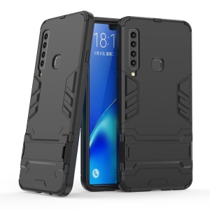 Cool Guard Kickstand Hybrid PC TPU Phone Case for Samsung Galaxy A9 (2018) / A9 Star Pro / A9s - Black