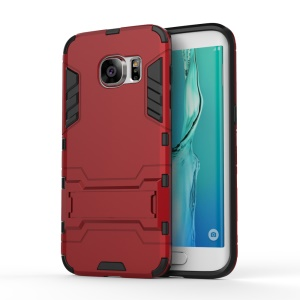 PC + TPU Combo Cover with Kickstand for Samsung Galaxy S7 edge G935 - Red