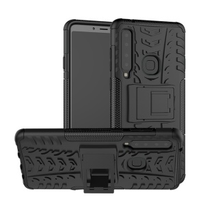 Cool Tyre PC + TPU Hybrid Kickstand Case for Samsung Galaxy A9 (2018) / A9 Star Pro / A9s - Black