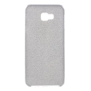 3-in-1 Glittery Powder Paper TPU + PC Hybrid Cover for Samsung Galaxy J4+ - Silver