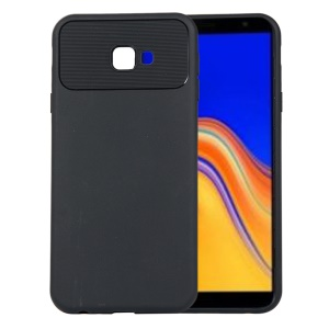 Armour Series Flexible TPU Protection Phone Case for Samsung Galaxy J4+ / J4 Prime - Black