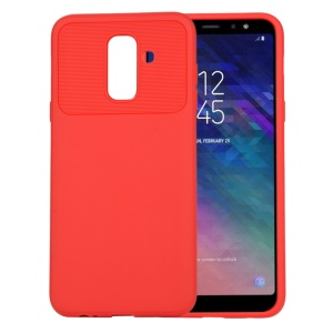 Armour Series Flexible TPU Back Mobile Phone Cover for Samsung Galaxy A6+ (2018) / A9 Star Lite - Red