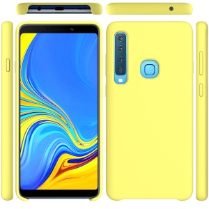 Liquid Silicone Phone Shell for Samsung Galaxy A9 (2018) / A9 Star Pro / A9s - Yellow