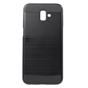 Brushed PC and TPU Hybrid Protective Cover for Samsung Galaxy J6+ - Black
