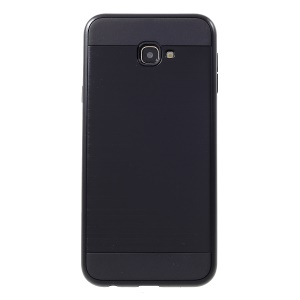 Brushed PC and TPU Hybrid Phone Cover for Samsung Galaxy J4+ - Black