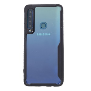 Silicone Frame + Acrylic Back Hybrid Cellphone Cover for Samsung Galaxy A9 (2018)/A9 Star Pro/A9s - Black